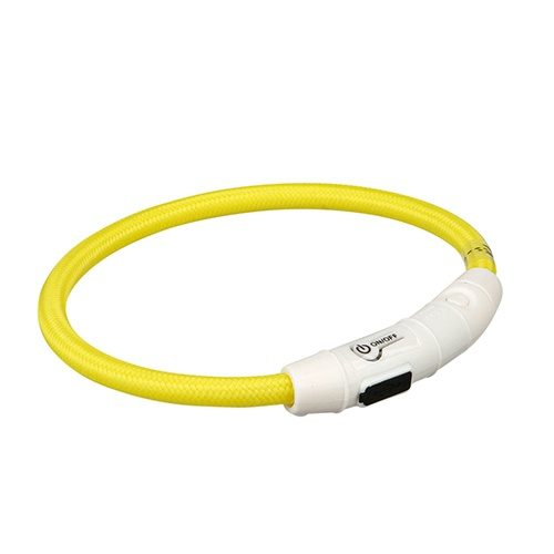 aro luminoso flash usb pequeño amarillo